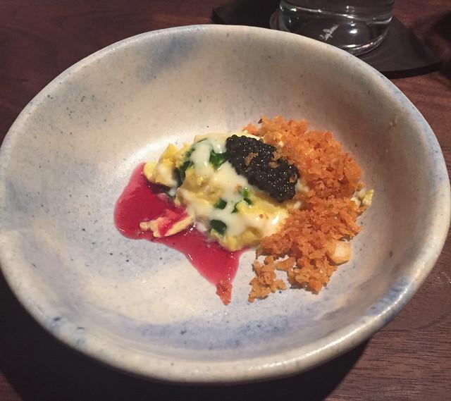 momofuku ko soft scramble, potato, caviar, herbs | Flickr - Photo ...