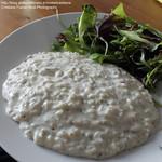 Risotto ai due formaggi e insalata verde