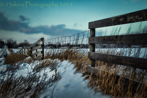 wood old blue houses sky snow cold field grass yellow clouds canon fence country windy barrier countryroad woodfence wirefence hff parison happyfencefriday cleaverroad
