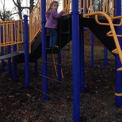 #Brave girl. Second #playground of the day!