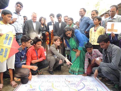 Lynne Featherstone in Bhopal