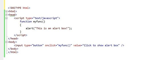 javascript alert box in html