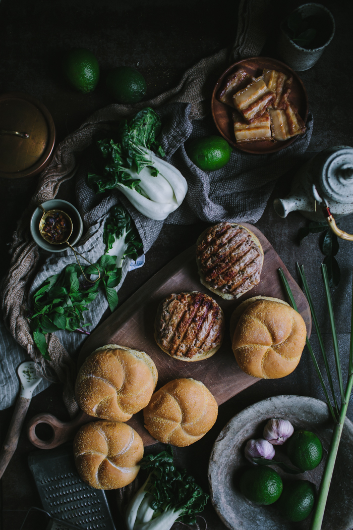 Thai-Style Pork Belly Burgers by Eva Kosmas Flores | Adventures in Cooking