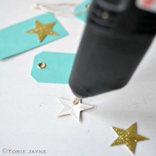 Sparkling star gift tag tutorial