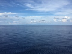 Sailing by Cuba.