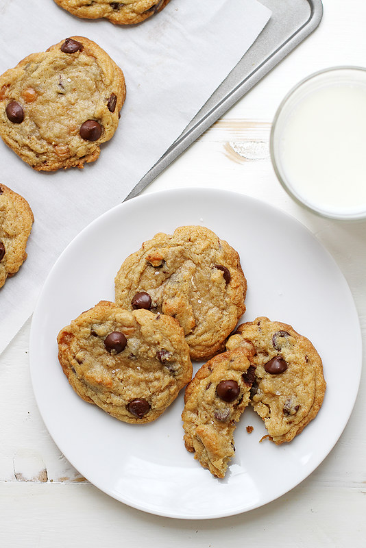 Caramel Coconut Chocolate Chip Cookies with Sea Salt | girlversusdough.com @stephmwise