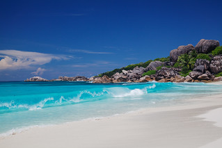 Grande Anse の画像. seychelles grandanse ladigue