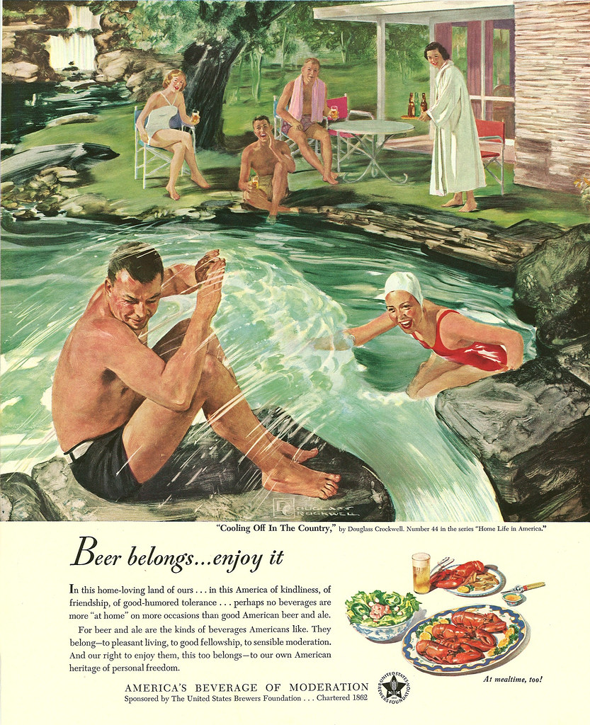 044. Cooling Off in the Country by Douglass Crockwell, 1950