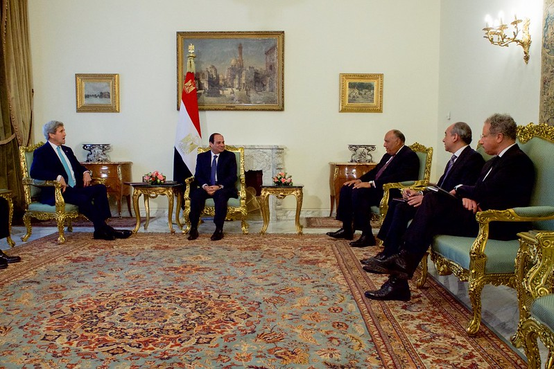 Secretary Kerry Meets With Egyptian President al-Sisi and Foreign Minister Shoukry in Cairo
