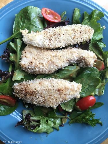 Mixed Salad with Hoisin Vinaigrette and Panko Chicken