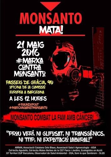 Marxa Mundial Contra Monsanto 21 maig Barcelona