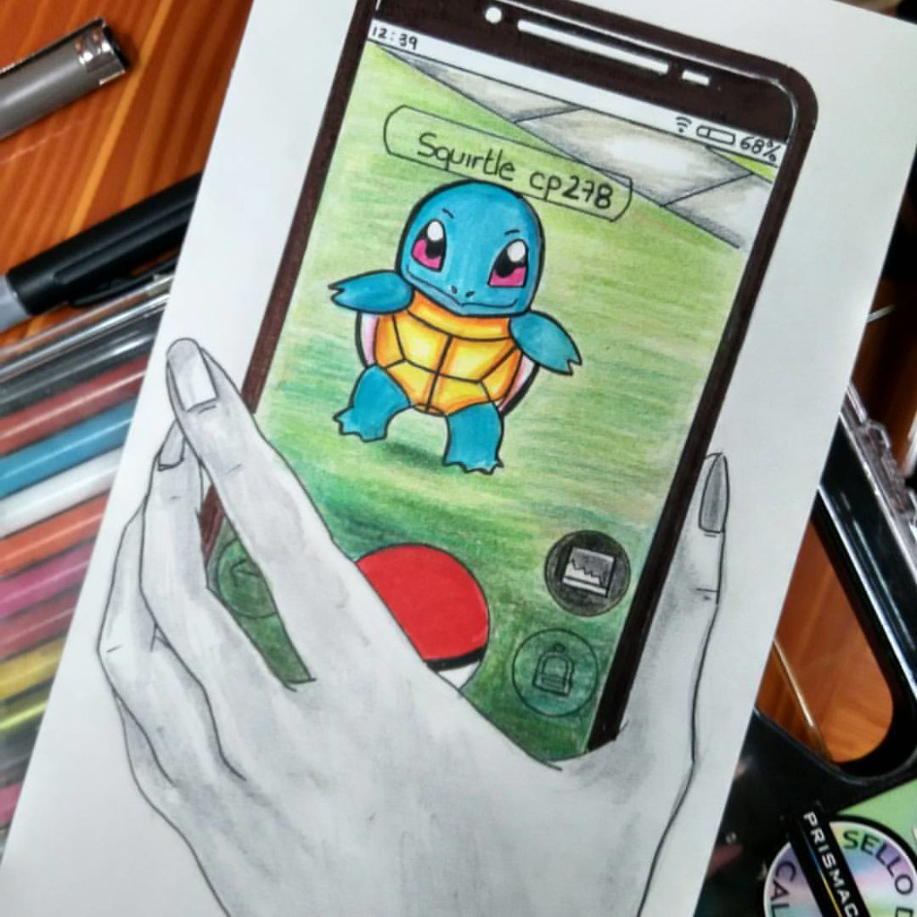 #pokemongo  I've captured mine,  with my pencil!  Capture MI Pokemon con mi lápiz  #art #artist #dibujo #dibujos #Pokemonapp #pokemongo #pikachu #pokemon #drawing #art #sunday #drawingoftheday #drawing #ilustracion #art #artist #markers #coloring #pencil