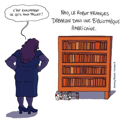 Des robots français font leur entrée dans une bibliothèque américaine, par Jeremy Rozier