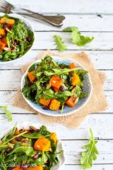 Roasted Butternut Squash Salad with Sriracha Lime…