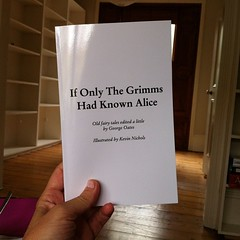 First draft of my side project. It's a book of old fairy tales edited to contain female characters. Exciting to hold a copy. Prepare to buy one!