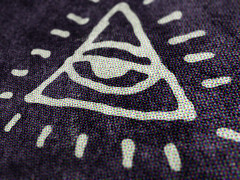 Create an LP jacket with the Arsenal's occult symbols collection