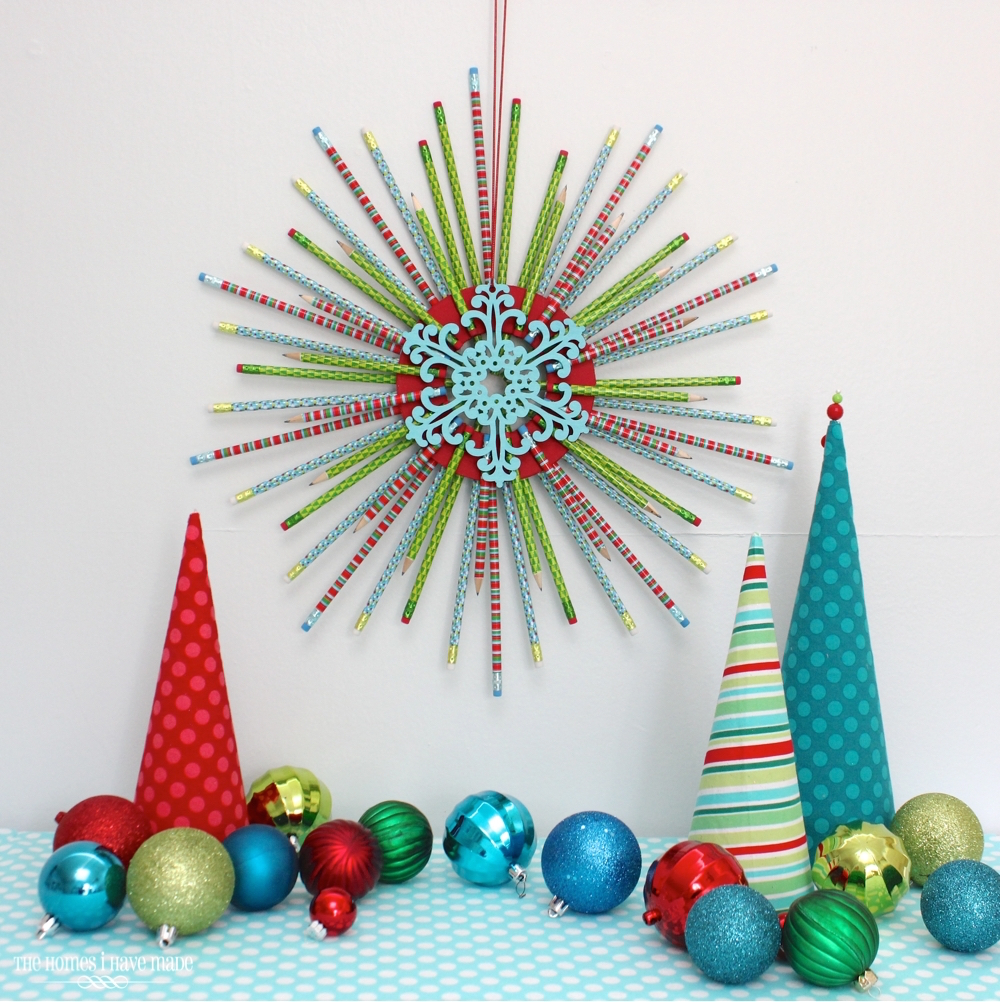 Pencil Starburst Wreath-002
