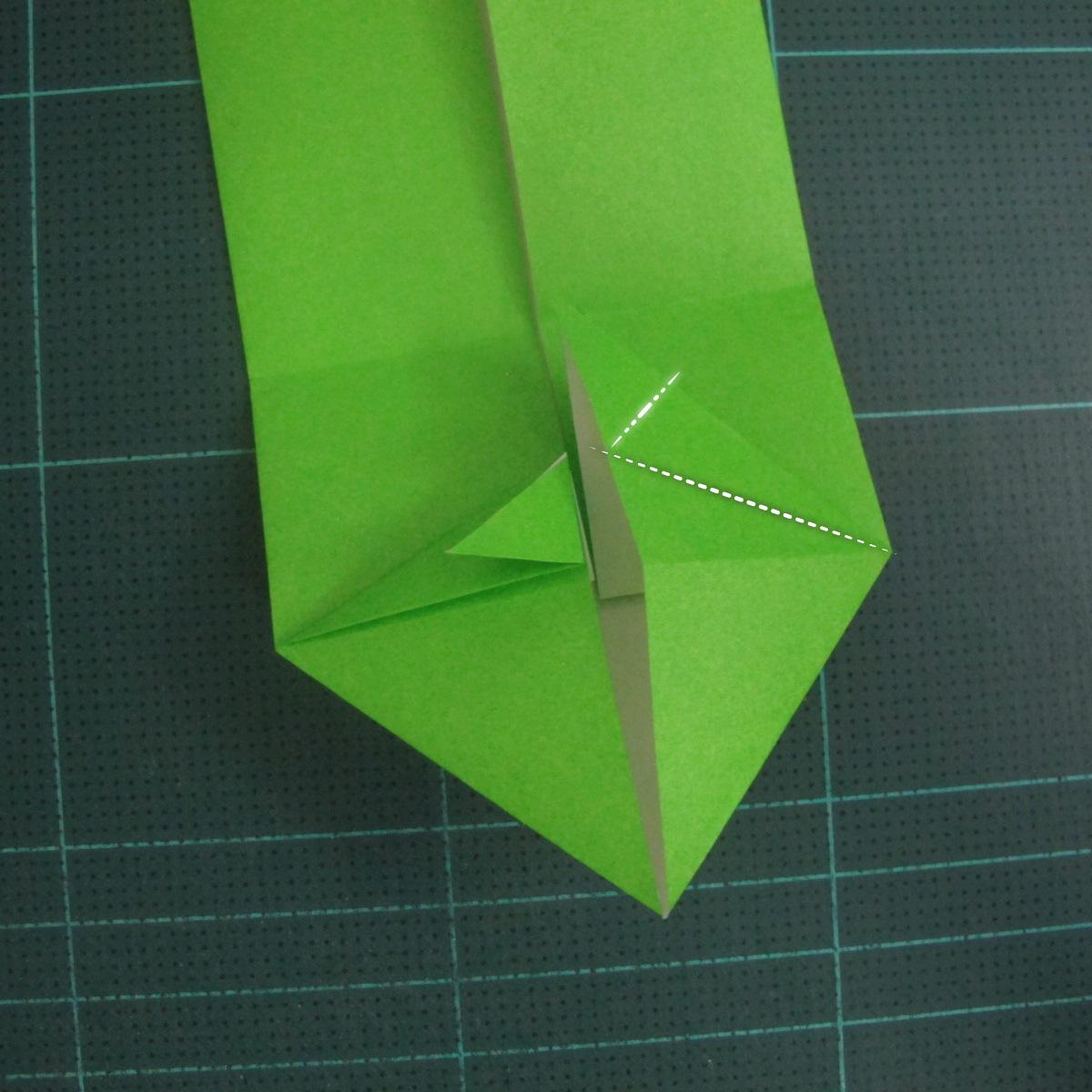 การพับกระดาษเป็นรูปแรด (Origami Rhino) 010