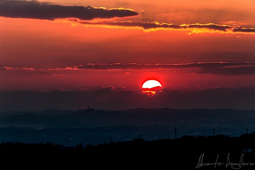 sunset red sun