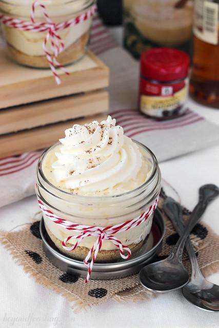 Rum Spiked Eggnog Cream Pie Parfaits