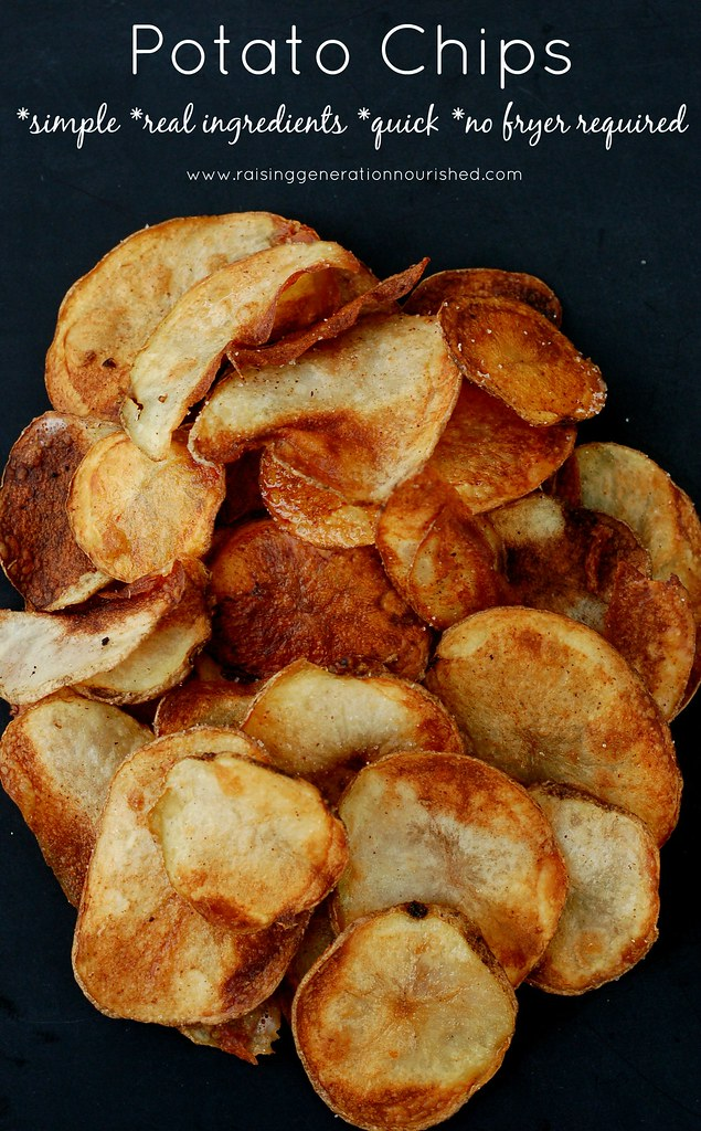Potato Chips :: Simple, Real Ingredients, Quick, & No Fryer Required!