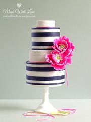 Pink Poppies Cake