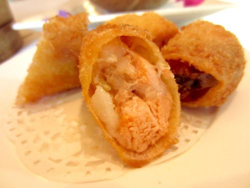 台南商務會館港式飲茶-主廚介紹與拿手菜推薦-明太鮭魚捲