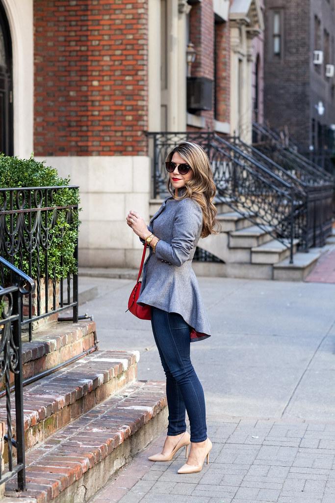 Blazer - LookBook Store c/o  Denim : AG Adriano Goldschmied   Heels - DVF Bethany Heels  Bag - Hayden Harnett c/o  Sunglasses : Urban Outfitters
