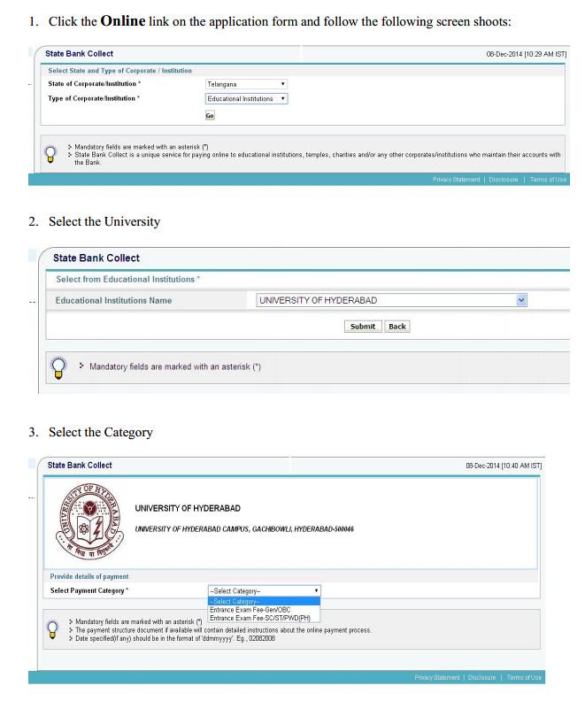 University of Hyderabad Application Form 2015   university of hyderabad  Image