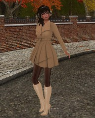 Jada Humby Couture - Jolanda Winter Dress Coat Toffee