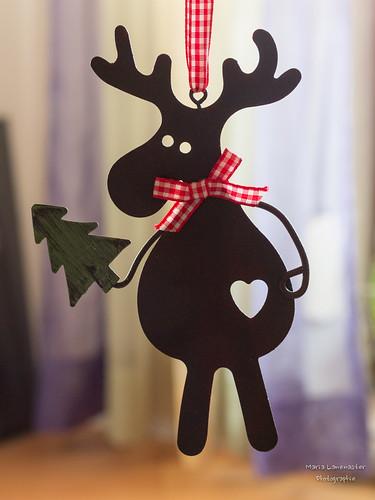 Weihnachtselch mit Herz