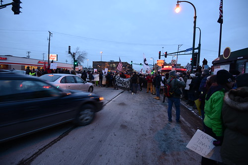 The car that ran over Minneapolis protesters moving towards the crowd