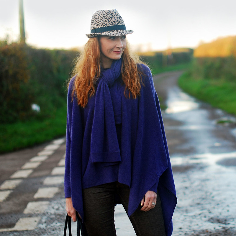 Autumn/Winter style: Cashmere poncho and scarf