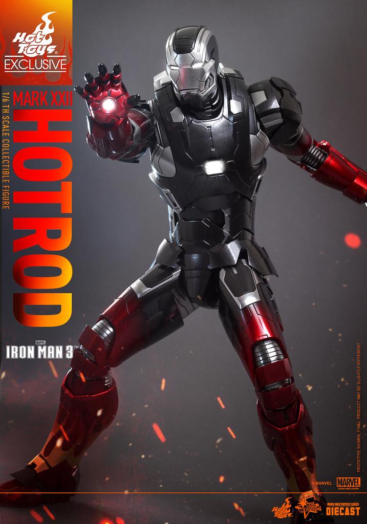 "Hot Toys - MMS272D08 - 《鋼鐵人3》1/6比例鋼鐵人馬克22""火柱"""