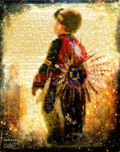 Painted image of Native American Boy