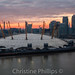 Millennium Dome, Canary Warf, River Thames, Shard and the rest of London at Sunset! by Christine's Phillips (Christine's observations) -