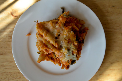 BYOV: bring your own vegetables: Success: Easy Baked Ziti