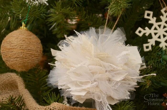 Twine and Lacey Ornament