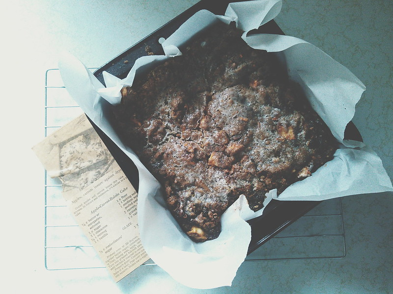 Apple Carrot Raisin Cake