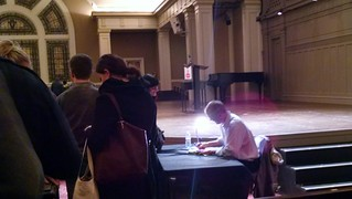 Matt Taibbi signing books at Town Hall Seattle