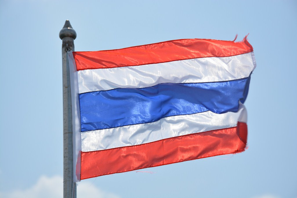 Thai flag on ferry (Ko Lanta, Thailand 2015)