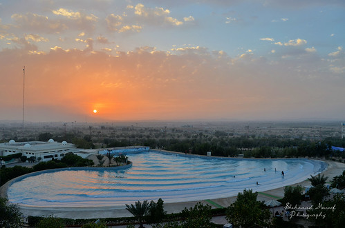 blue pakistan sunset sun pool nikon waves peace desert mosque resort karachi sindh