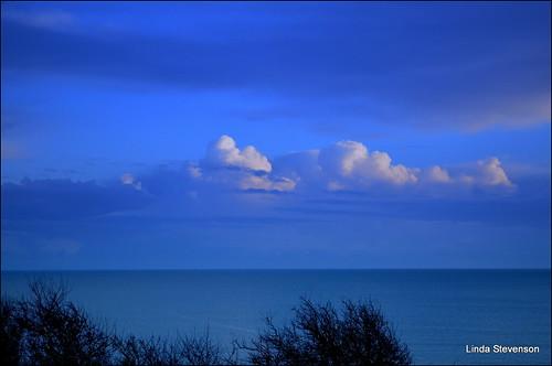 blue sea sky white daylight fluffyclouds bowlezecoveweymouthdorsetunited
