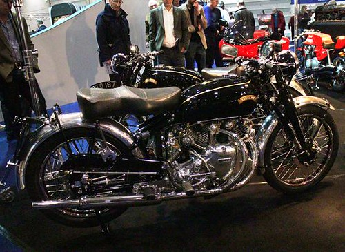 Classic Vincent motorcycle at Classic Car Show 2015 London Excel