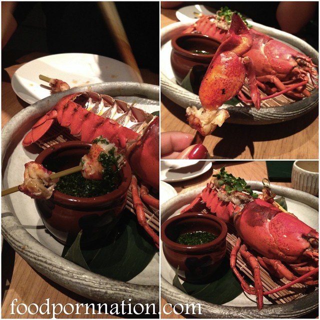 whole grilled  lobster with ponzu &  umami dressing - 2