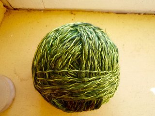 Green handspun, Jan 2015