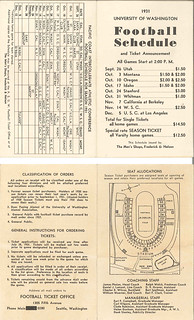 University of Washington football schedule, 1931