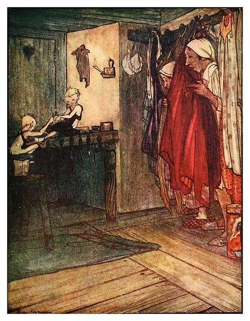 005- Los duendes y el zapatero-Grimm's fairy tales-1927-Ilust. Rie Cramer