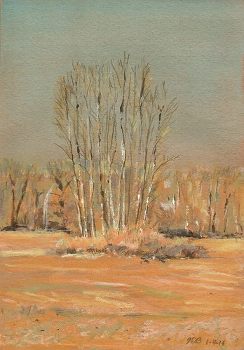 trees winter painting landscape drawing mixedmedia