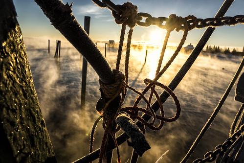 review rockland maine cold winter ocean rocklandme seasmoke fog sunrise